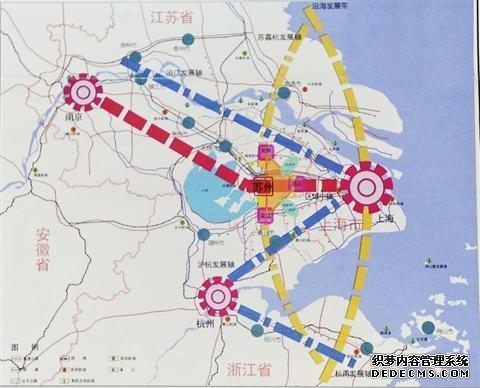 """规划形成""""一心两区两片""""构成的""""t型""""城市空间结构"""